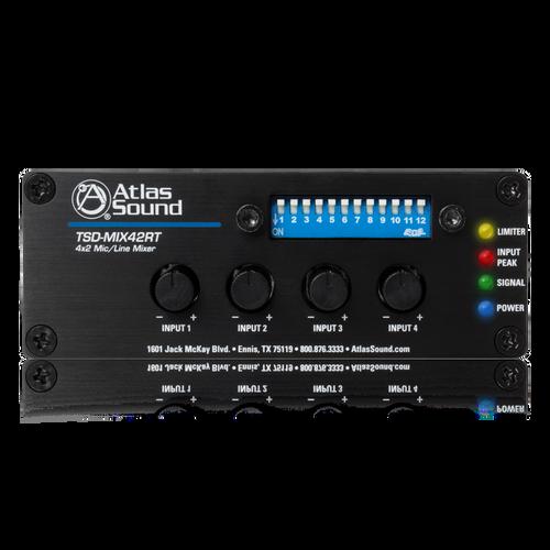 Atlas TSD-MIX42RT 4x2 Mic/Line Mixer