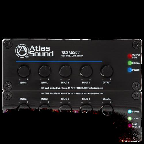 Atlas TSD-MIX41 4x1 Mic/Line Mixer