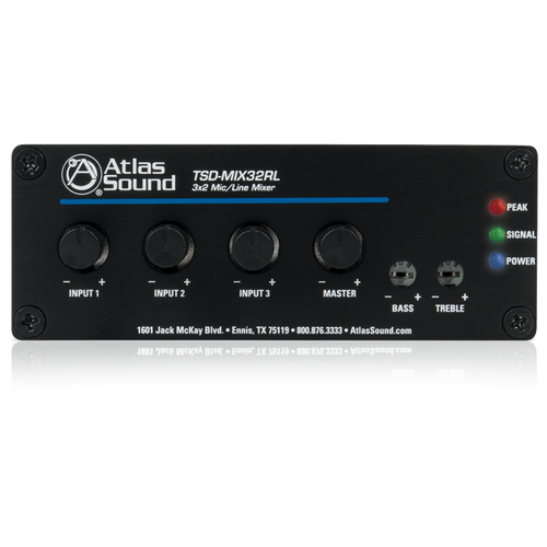 Atlas TSD-MIX32RL 3x2 Stereo Line Mixer