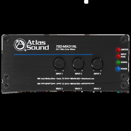 Atlas TSD-MIX31RL 3x1 Mic/Line Mixer