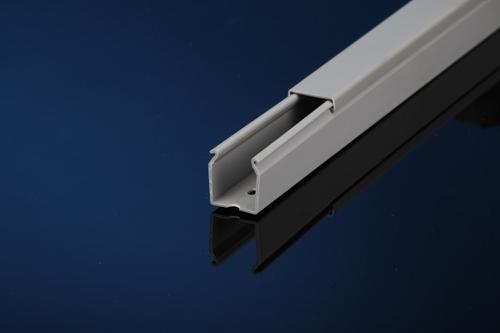 "Iboco TSH-2230G 2 1/4"" W x 3"" H Light Gray Solid Duct, Box of 12"