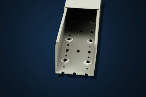 "Iboco TSH-4040G 4"" W x 4"" H Light Gray Solid Duct, Box of 4"