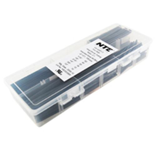 """NTE HS-ASST-2 Black 2 1/2"""" Length Thin Wall Heat Shrink Assortment Pack"""