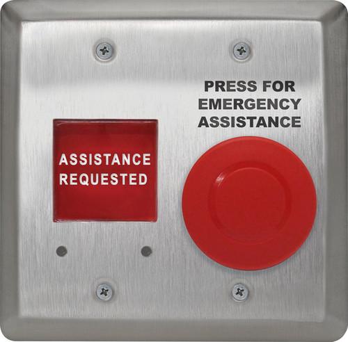 Camden Controls CM-AF540SO Double Gang, Push/Pull Mushroom LED Annunicator