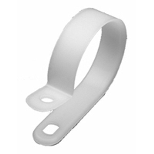 """NTE 04-CCL215009 1 1/2"""" Diameter Natural Nylon Cable Clamps, 100 Pack"""