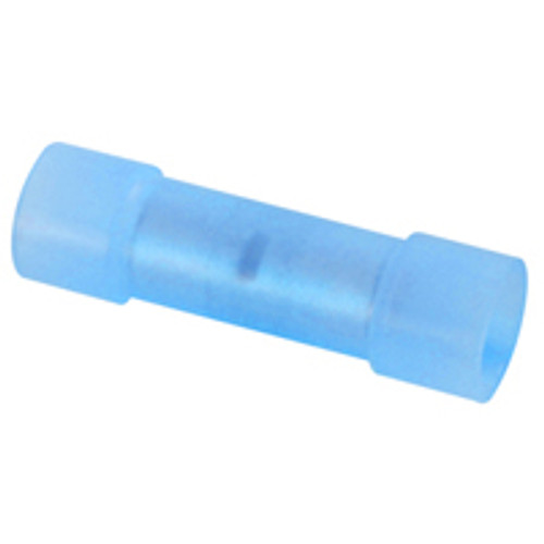 NTE 76-NIBC16L 16-14 AWG 105 Degree Nylon Insulated Tin Plated Copper Butt Connector, 50 Pack