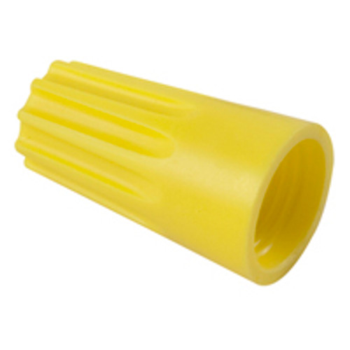 NTE 76-WN12 22-10 AWG PVC Yellow Wire Nut Twist-On, 5 Pack
