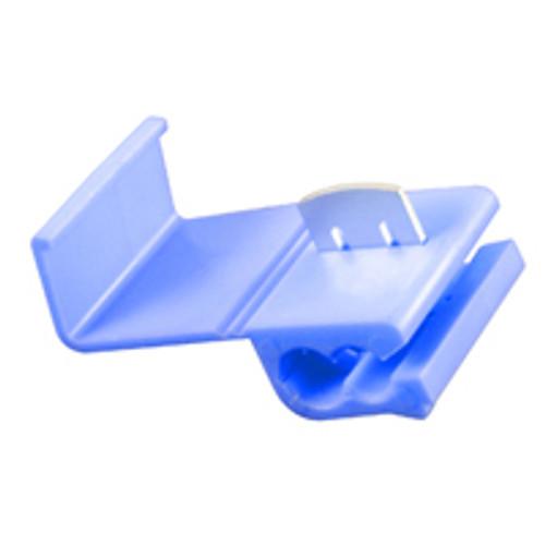 NTE 76-QS16Q 16-14 AWG Blue Self-Strip Polypropylene Tin Plated Brass Quick Splice, 25 Pack