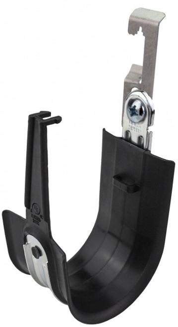 "Platinum Tools HPH64W-25BK 4"" Snap-Lock Batwing HPH Black J-Hooks, 25 Pack"