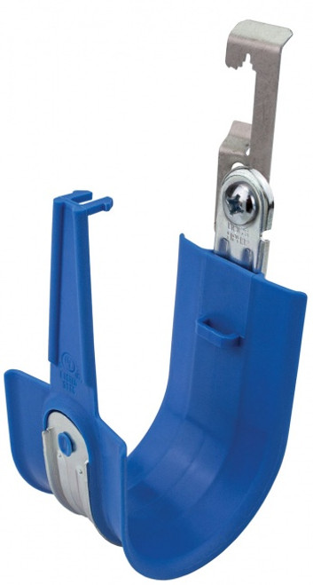 "Platinum Tools HPH64W-25BL 4"" Snap-Lock Batwing HPH Blue J-Hooks, 25 Pack"