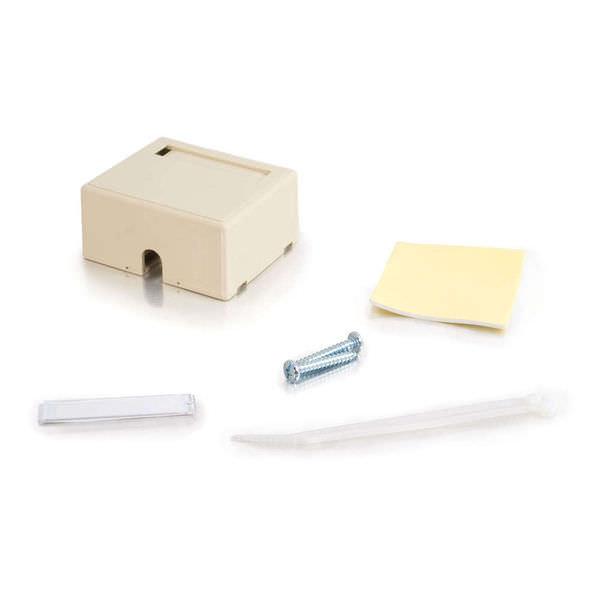 C2G 03832 2-Port Keystone Jack Ivory Surface Mount Box