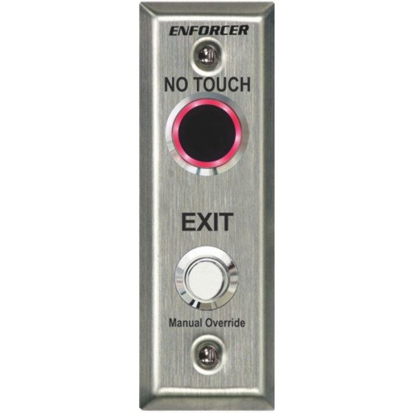 """Seco-Larm SD-9163-KSQ """"No Touch"""" RTE Plate with Adjustable Delay Timer, Outdoor Use, Slimline"""