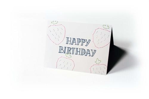 Happy Birthday - Strawberries