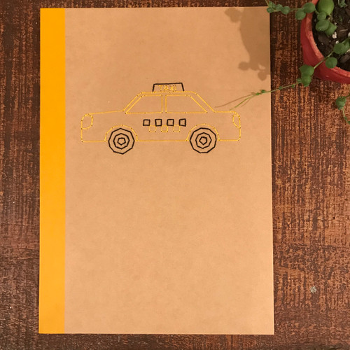 NYC Yellow Taxi Cab Lined Notebook