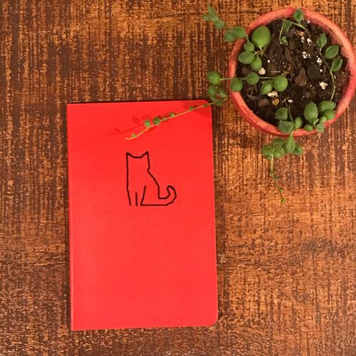 Red Cat Moleskin Lined Notebook