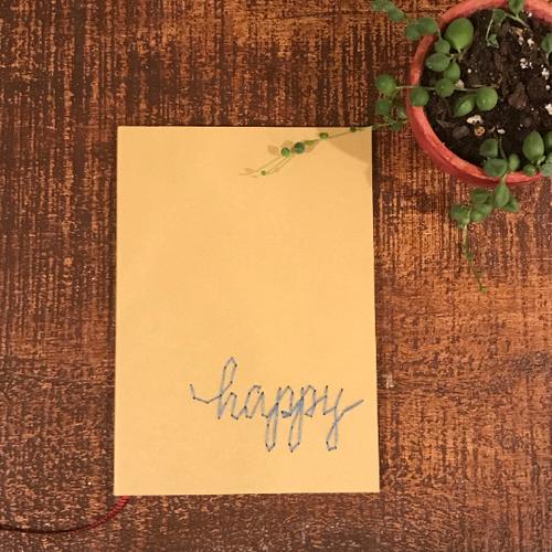 Happy Blank Notebook