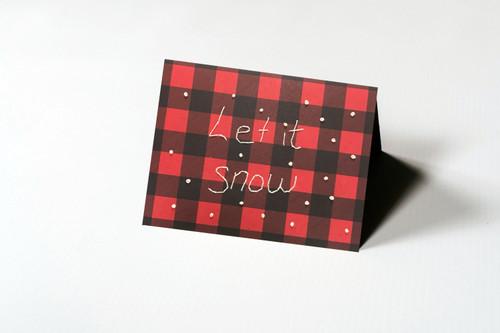 Let it Snow Plaid