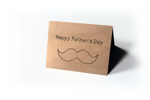 Happy Father's Day Mustache Card