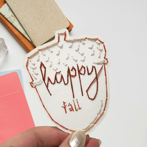 Happy Fall Acorn Sticker