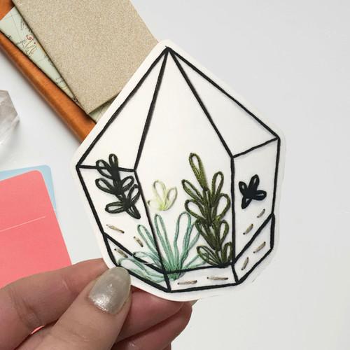 Stitched Terrarium Sticker