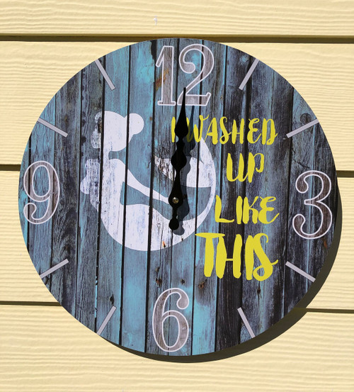 "Mermaid Wall Clock - ""I Washed Up Like This"""