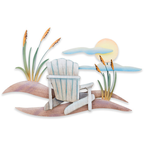 Beach Chair Scene Wall Art CW458