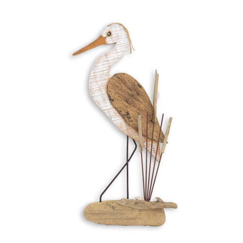 HERON HEAD UP BEACH JUNK WALL ART C477