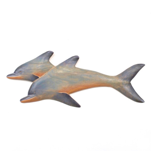 Wooden Wall Dolphins