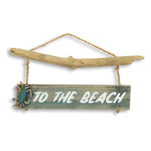 To The Beach Wall Art Crab Sign C487