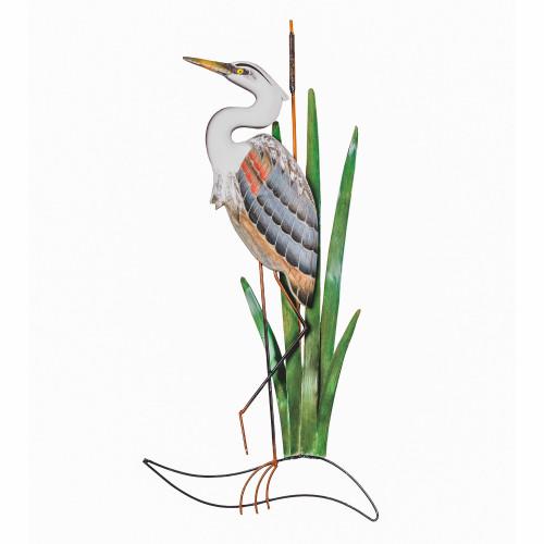 Blue Heron Head Up Wall CW507