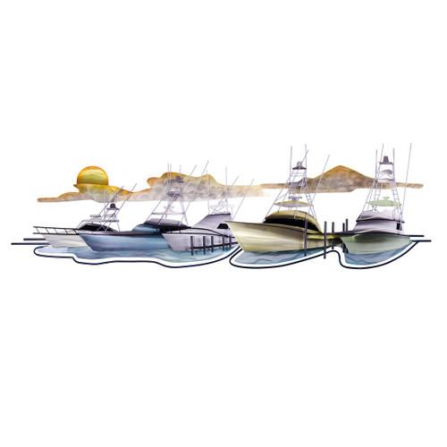 Coastal Marina Metal Wall Sculpture