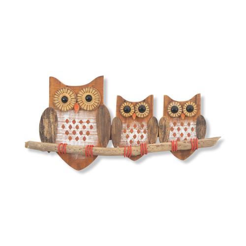 Owls Family Wall Art Beach Junk C553