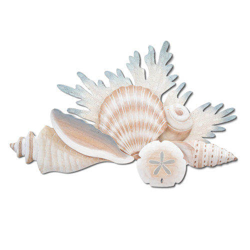 Wood and Metal Reef Wall Sculpture CW462