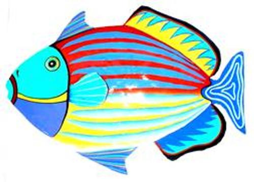 Triggerfish Haitian Metal Wall Art