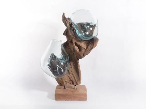 Teak Root Double Blown Glass