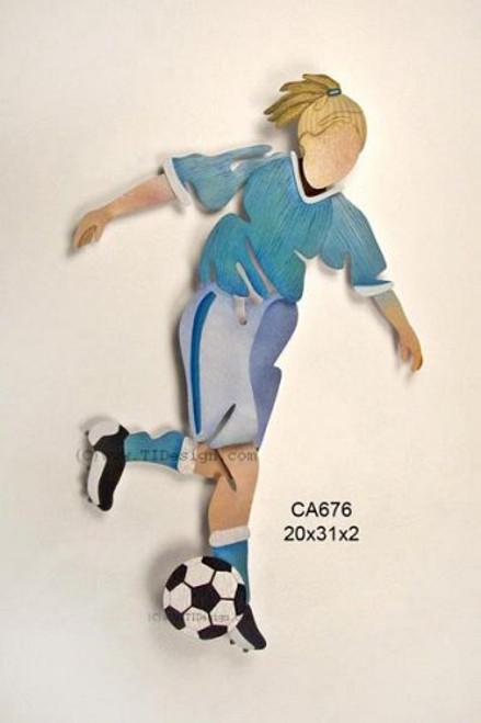 Girl Soccer Player Wall Art