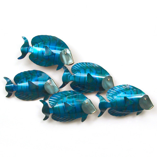 Blue Tangs Metal Wall Hanging