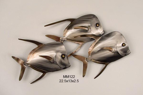 Lookdown Fish Trio Wall Art - Stainless Wall Art