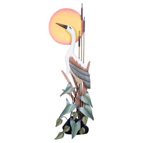 Heron Head Up Wall