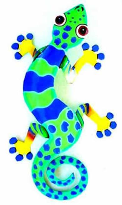 Funky Gecko #9 Haitian Metal Wall Art