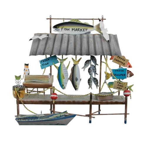 Fish Market Metal Wall Hanging