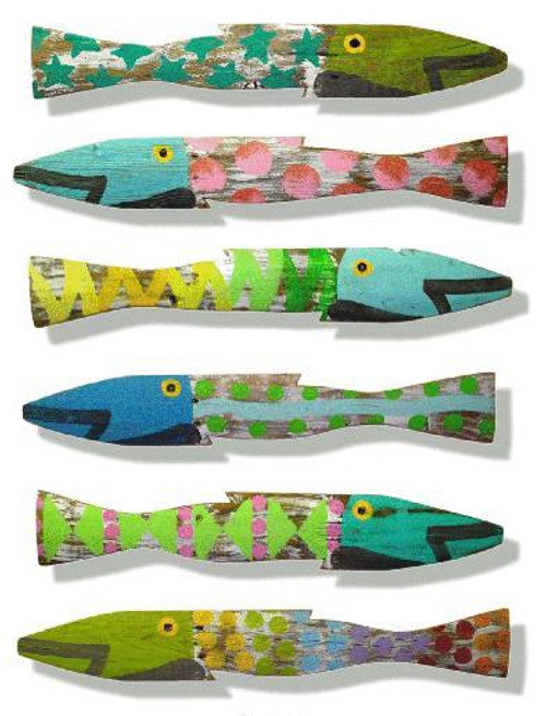 Fence Fish - Coastal Colors Set of Six