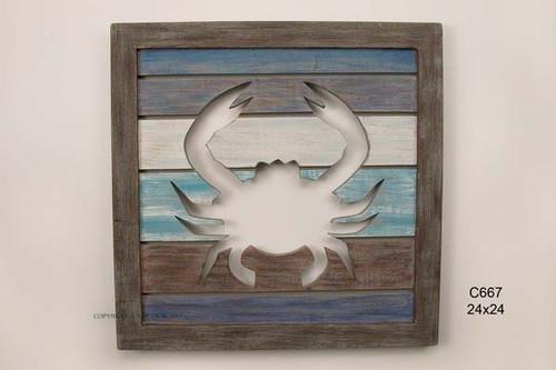 Cut Out Slat Panel Crab
