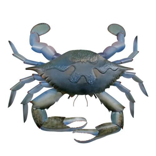 Giant Blue Crab Metal Wall Art