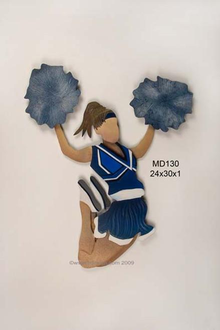 Cheerleader in Blue Kids Wall Decor