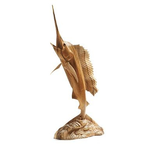 Hand Carved Wooden Sailfish