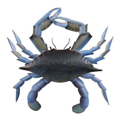 Blue Crab Metal Wall Art