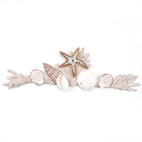 Coral  Shell Swag Wall Sculpture