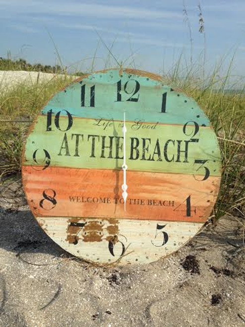 At the Beach - Wall Clock