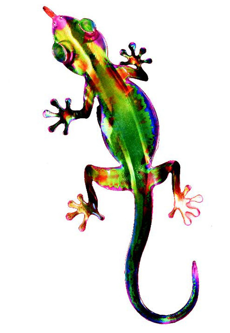 3D Metal Wall Geckos Set of 3